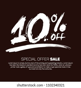 10% OFF Special Offer Sale (Promotional Poster Design Vector Illustration Offers Mobile sale Fashion Electronics Home Appliances Books Jewelry Home Beauty Discount SMOKY BLACK)