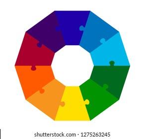 10 Part Decagon Puzzle