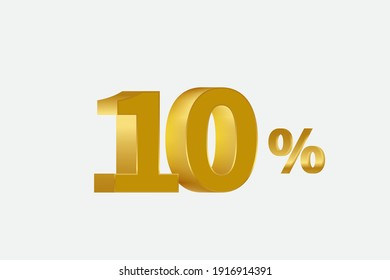 10 Percent off 3d Sign on White Background, Special Offer 10% Discount Tag, Sale Up to 10 Percent Off,big offer, Sale, Special Offer Label, Sticker, Tag, Banner, Advertising, offer Icon