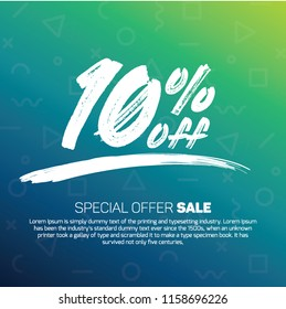 10 Percent off 10% Discount Sale Off big offer 10% Offer Sale Special Offer Tag Banner Advertising Promotional Poster Design Vector Offers