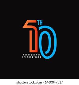 10 Th Anniversary Celebration Vector Template Design Illustration
