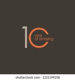 10 Year of Amazing Vector Template Design Illustration