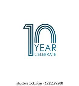 10 Year Celebrate Vector Template Design Illustration