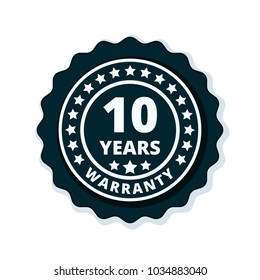 10 Year Warranty Label illustration