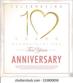10 years Anniversary background