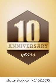 10 years anniversary card