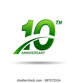 10 years anniversary. celebration logo design
