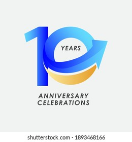 10 Years Anniversary Celebration Number Vector Template Design Illustration