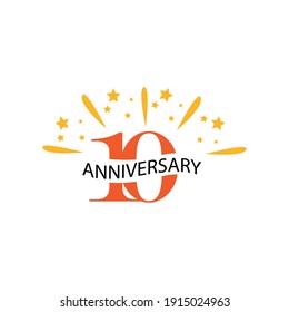 10 years anniversary celebration template vector design illustration