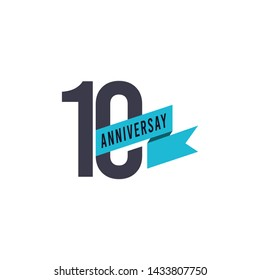 10 Years Anniversary Celebration Vector Template Design Illustration