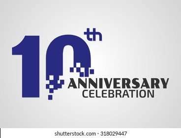 10 years anniversary celebrationTemplate logo