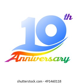 10 years anniversary logo design template