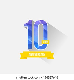 10 Years Anniversary with Low Poly Design