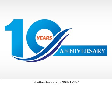 10 years anniversary Template logo