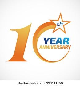 10 years anniversary Template logo