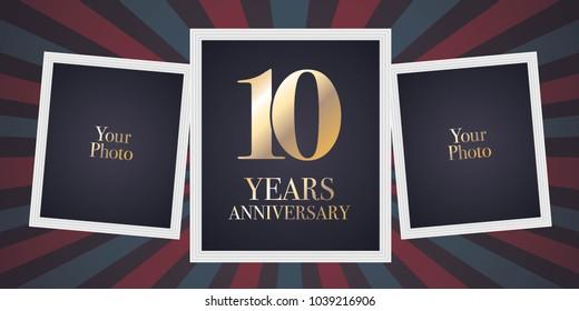 Tenth anniversary stock vectors images vector art shutterstock