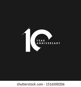 10 Years Anniversary Vector Template Design Illustration