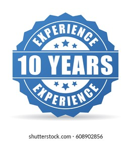 10 years experience vector icon illustration isolated on white background
