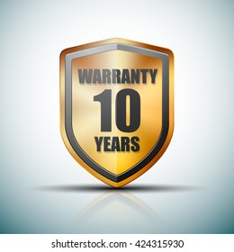 10 Years Warranty shield