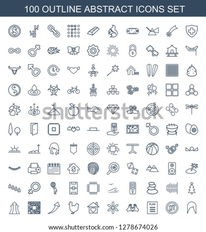 100 Abstract Icons Trendy Abstract Icons Stock Vector Royalty Free