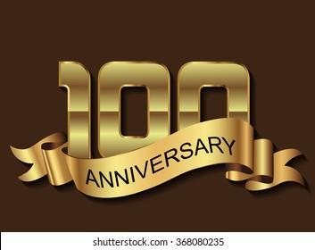 100 anniversary template design.100 years anniversary.Vector illustration.