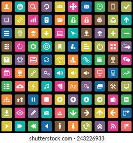 100 app icons big universal set