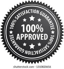100% Approved label illustration
