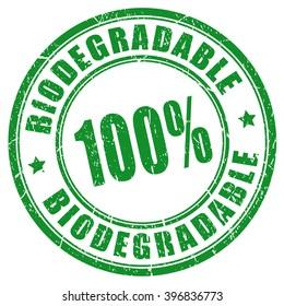 100 biodegradable stamp