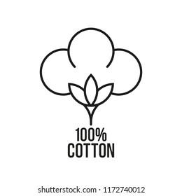100% cotton. Vector icon