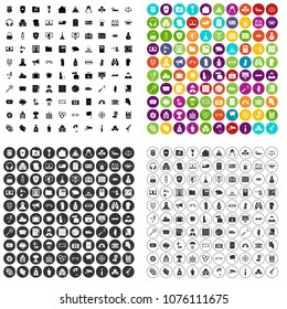 100 crime icons set vector in 4 variant for any web design isolated on white