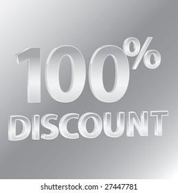100% Discounts / vector