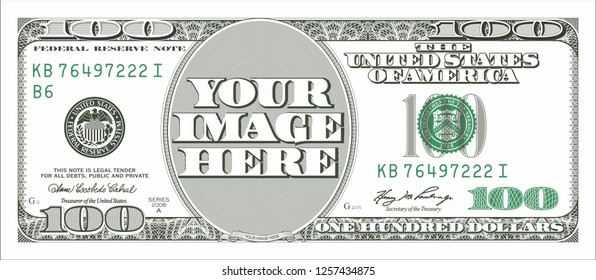 100 Dollar Bill Photo Frame