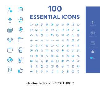100 Essential Icon Set Eps