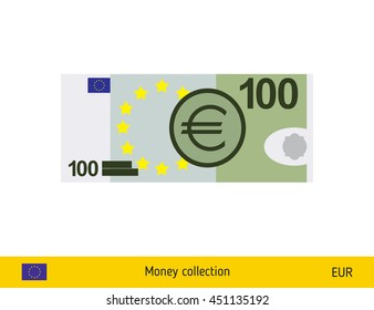 100 euro banknote illustration.