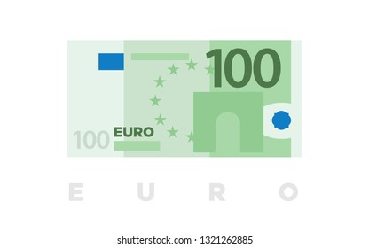 100 euro money banknotes of Europe, flat and minimalistic paper money - vector