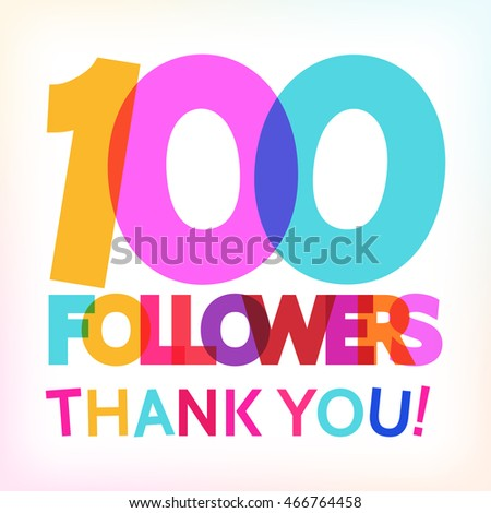 100 Followers Thank You Card Your Stock Vector Royalty Free