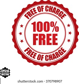 100% free free of charge stamp.Vector.