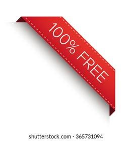 100% free corner ribbon