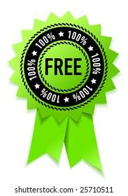 100% free green medal