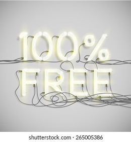 100% FREE, made by NeON font, vector