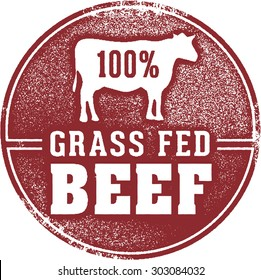 100% Grass Fed Beef Meat Stamp