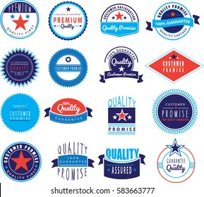 100% guarantee, quality assured, customer promise on white background