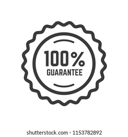 100% guaranteed label icon vector template