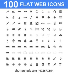 100 Icon set. Vector concept illustration for design.