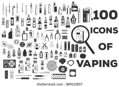 100 icons of vaping