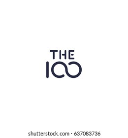 100 logo for company or anniversary. Vector concept one hundred icon