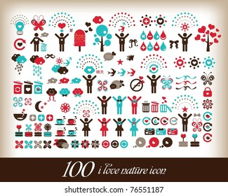 100 i love world icon