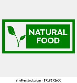 100% Natural food icon, all nature circle icon. Vector Illustration