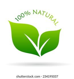 100 natural icon