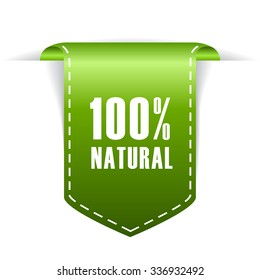 100 natural label illustration isolated on white background